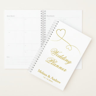 Two Elegant Gold Hearts | Wedding Planner