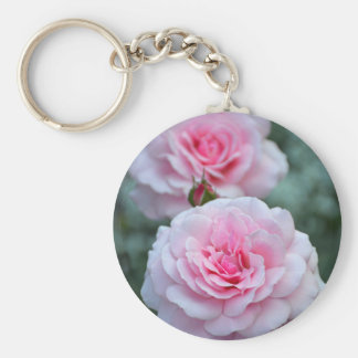Two elegant pink roses keychain