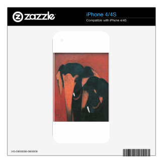 Two Elephants by Amrita Sher-Gil Decal For The iPhone 4S