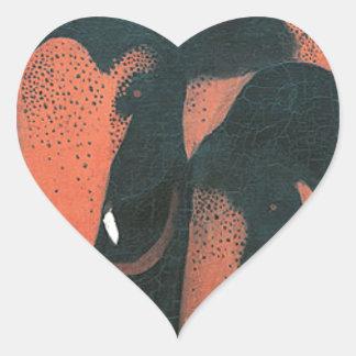 Two Elephants by Amrita Sher-Gil Heart Sticker