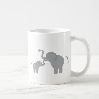 Two Elephants Coffee Mug