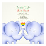 Two Elephants Pride Wedding Personalized Announcement