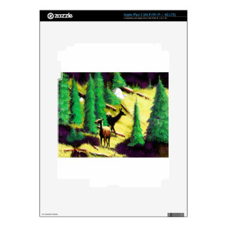 Two Elk In The Sunlight Decals For iPad 3