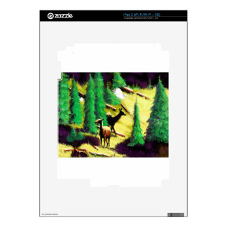 Two Elk In The Sunlight iPad 2 Decal