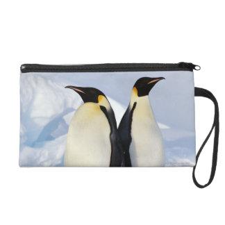 Two Emperor Penguins in Antarctica Wristlet Purse