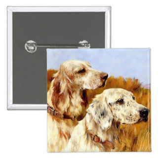 Two English Setters by Arthur Wardle Pinback Buttons