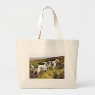Two English Setters in a Field - Arthur Wardle Large Tote Bag