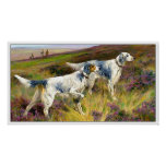 Two English Setters in a Field - Arthur Wardle Poster