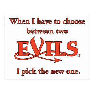 Two Evils Postcard
