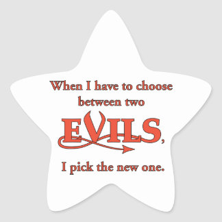 Two Evils Star Sticker