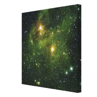 Two extremely bright stars canvas print