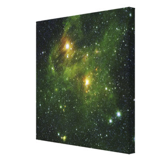 Two extremely bright stars gallery wrapped canvas