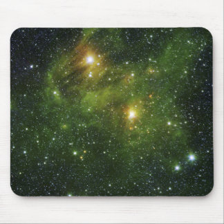 Two extremely bright stars mouse pad