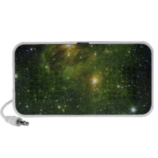 Two extremely bright stars notebook speaker