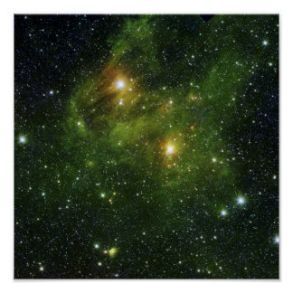 Two extremely bright stars poster