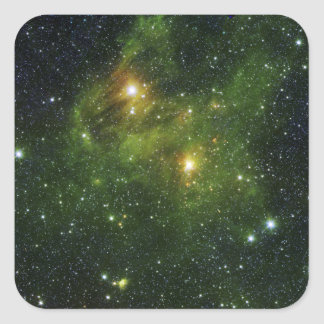 Two extremely bright stars sticker