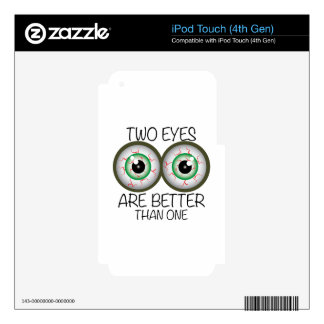 Two Eyes iPod Touch 4G Decals