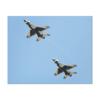 "Two F-16Cs of the U.S.A.F. ""Thunderbirds"". Gallery Wrap Canvas"