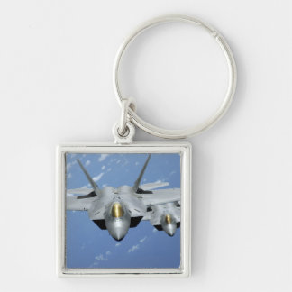 Two F-22 Raptors fly over the Pacific Ocean 2 Key Chains