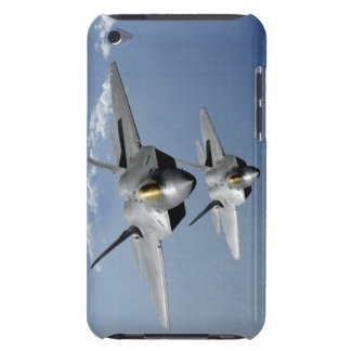 Two F-22 Raptors fly over the Pacific Ocean Barely There iPod Cover