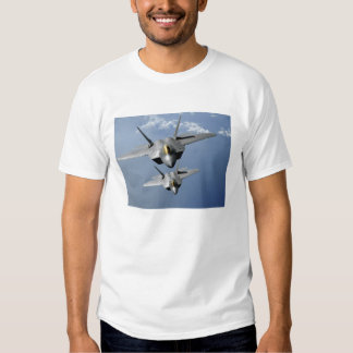 Two F-22 Raptors fly over the Pacific Ocean Tee Shirt