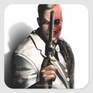 Two-Face 2 Square Stickers
