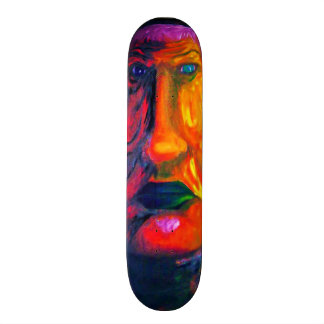 Two-Face Colorful Sad Surreal Green Lips Skate Deck