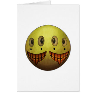 Two Face Grin Card
