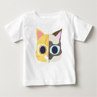 two face of a cat baby T-Shirt