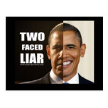 Two Faced Liar - Obama Post Cards