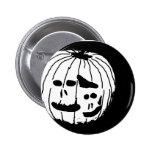 Two Faced Pumpkin Pinback Button