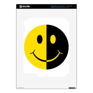 Two Faced Smiley Face Decals For iPad 3