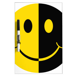 Two Faced Smiley Face Dry Erase Board