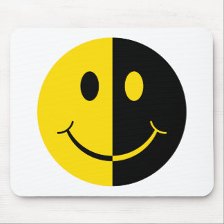 Two Faced Smiley Face Mousepad