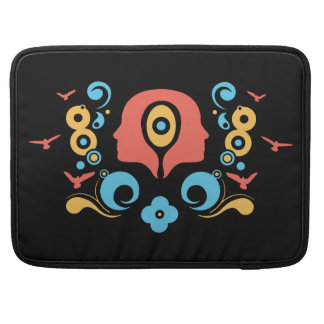 Two faces illustration MacBook pro sleeve