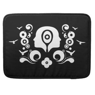 Two faces illustration MacBook pro sleeves