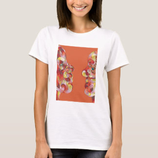 Two Faces in Abstract by Leslie Harlow T-Shirt