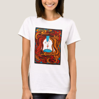 """Two Faces Kissing with Hair"" circa 1898 T-Shirt"