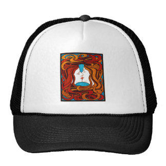 """""""Two Faces Kissing with Hair"""" circa 1898 Trucker Hat"""