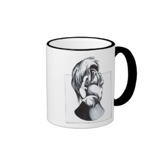 Two Faces of Grief Ringer Coffee Mug