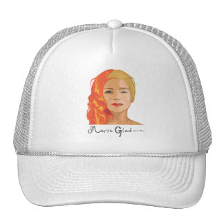 Two faces of Marie Glad Trucker Hat