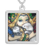 Two Fae Ferrets NECKLACE ferret fairy