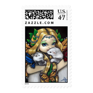 """Two Fae Ferrets"" Stamp"