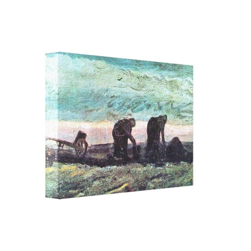 Two farmers by Vincent van Gogh Stretched Canvas Print