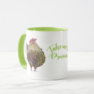 Two Fat Chickens in Beret Mug
