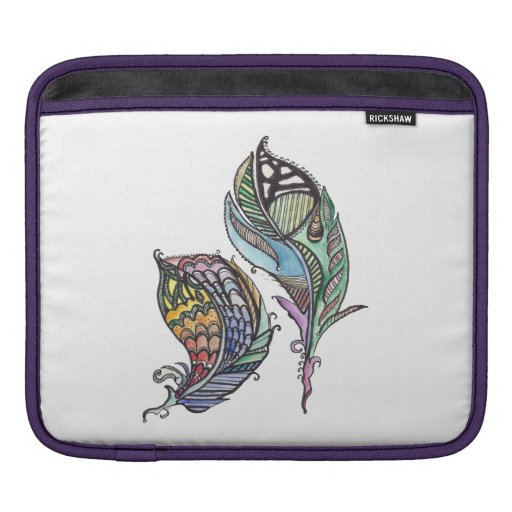 Two Feathers iPad Sleeve