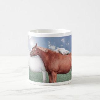two fell in love horses classic white coffee mug