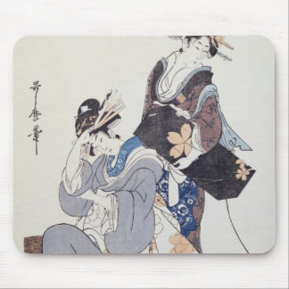 Two Female Figures Mouse Pad