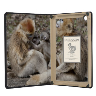 Two female Golden Monkeys with newborns iPad Mini Retina Case