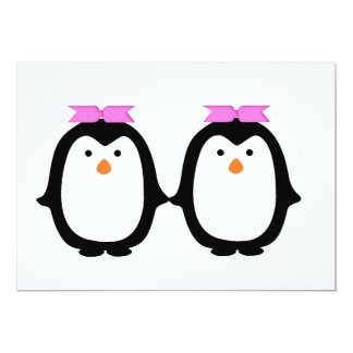 Two Female Penguins Card